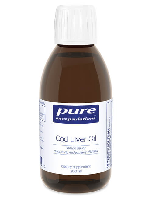 Cod Liver Oil (lemon flavor) by Pure Encapsulations