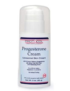 Progesterone Liposomal Skin Cream 20 mg by Protocol For Life