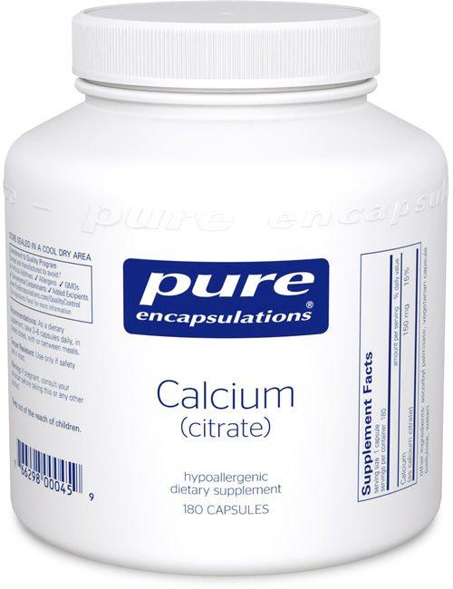 Calcium (citrate) by Pure Encapsulations