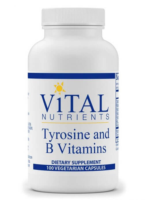 Tyrosine and B-Vitamins by Vital Nutrients