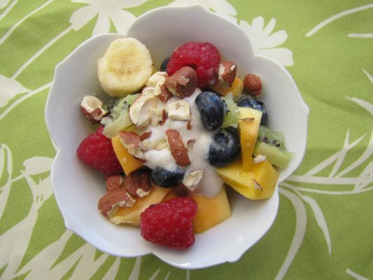Eat The Colors of the Rainbow…Vegan Fruit and Creme