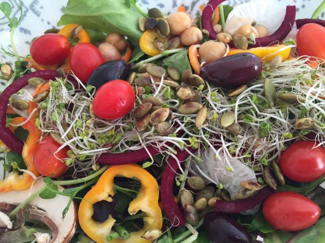 Super Sprout Salad with Hempseed