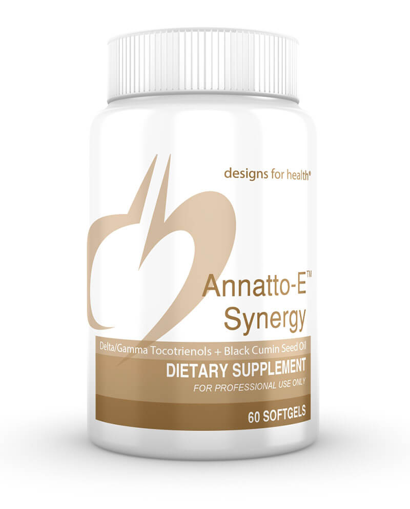 Annatto E Synergy - Annatto Tocotrienols is a unique tocopherolsfree, tocotrienols-only product, containing 125 mg tocotrienols