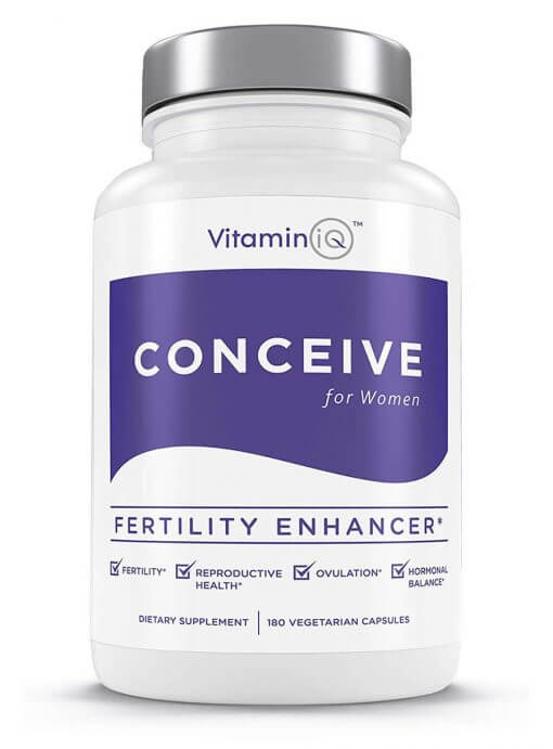 VitaminIQ Conceive Women's Fertility Supplements, Hormonal Balance, Ovulation Aid & Fertility Enhancer with Natural Chasteberry, Myo-Inosito & CoQ10, Vegetarian Capsules