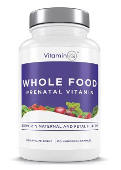VitaminIQ Whole Food Prenatal Vitamins, Natural Supplement Support for Maternal & Fetal Health, Healthy Baby, Healthy Mom, Non-GMO, Vegetarian, Gluten