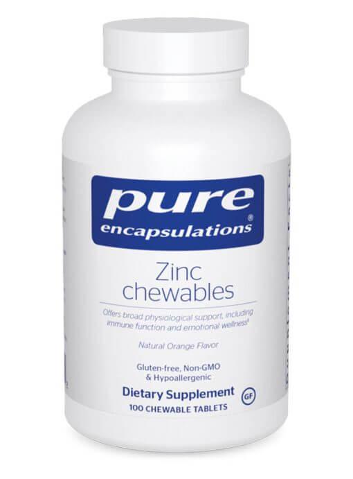 Zinc chewables by Pure Encapsulations