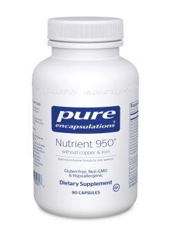 Nutrient 950 90 capsules no copper and no iron