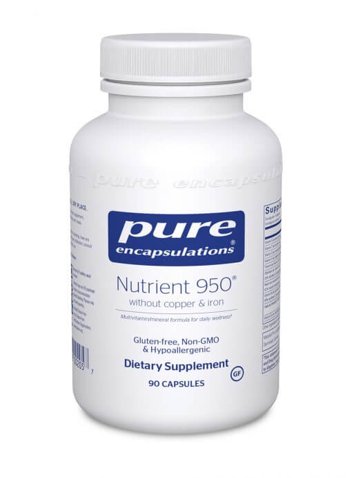 Nutrient 950 90 capsules no copper and no iron
