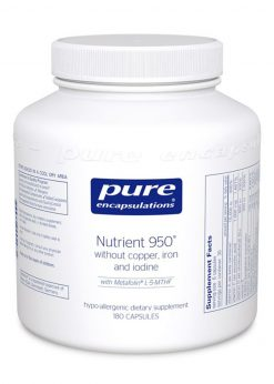 Nutrient 950® 180 Capsules w/out Copper, Iron and Iodine
